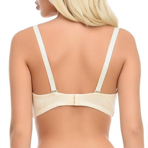 090d9e5a20877 Luerrose Push Up Full Coverage T-Shirt V-Neck Underwired Multiway Minimizer  Bra  Amazon.co.uk  Clothing