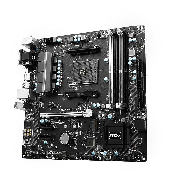 MSI Gaming AMD Ryzen A320 DDR4 VR Ready HDMI USB 3 micro-ATX Motherboard  (A320M BAZOOKA)