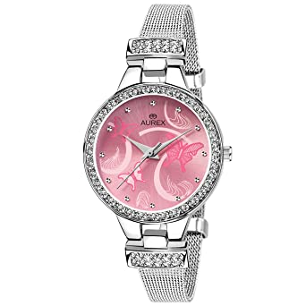a14cf98eff Buy Aurex Analog Pink Dial Women's and Girl's Watch (AX-LR501-PKC) Online  at Low Prices in India - Amazon.in