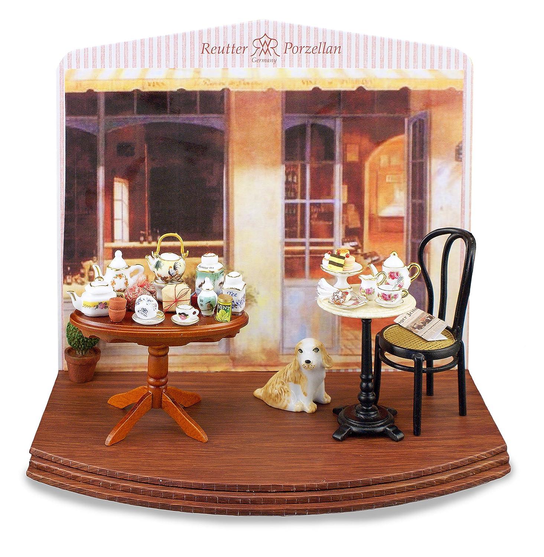 Reutter Porzellan Teeladen Neu Tea Shop Display Wandbild Puppenstube 1:12