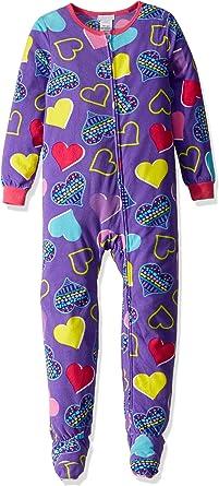Komar Kids Girls Big Plush Velour Fleece Footed Blanket Sleeper Pajama