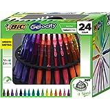 BIC Gel-Ocity Gel Pen Spinner, Medium Point Rectractable Gel Pens (0.7mm), Assorted Colors, 24-Count