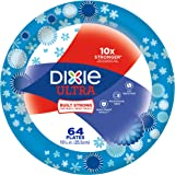 Dixie Ultra Paper Plates, Pack of 64 Count, Large Dinner Size (10 1/16 inches) Disposable Plates; Designs May Vary