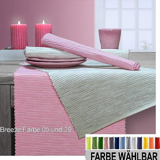 Sander 4-er Set Tischset Breeze, Größen- Farbauswahl (05 - rosa)