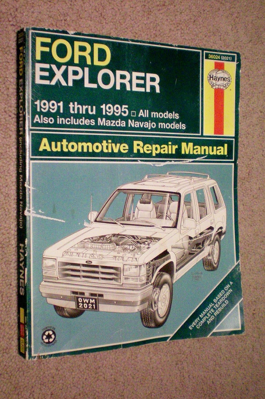 Ford Explorer & Mazda Navajo Automotive Repair Manual All Ford ...