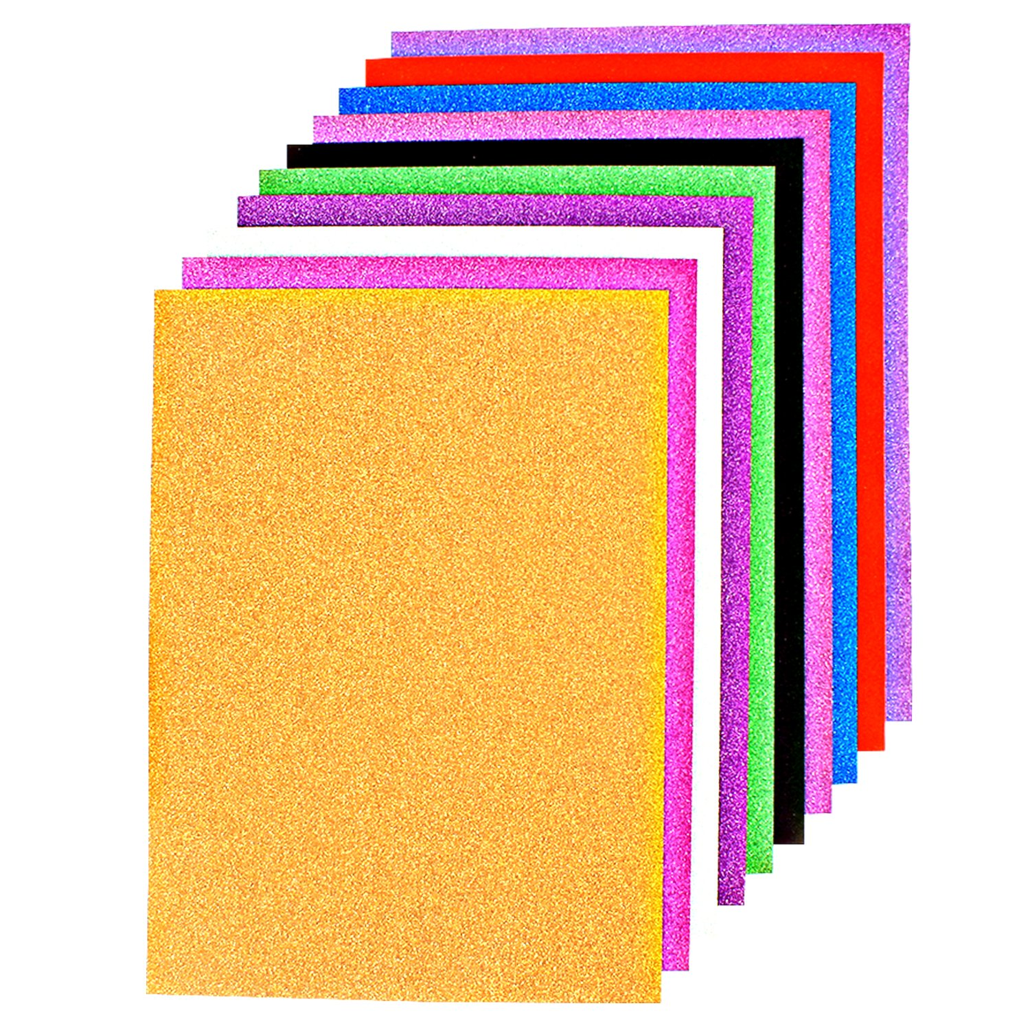 Coloured paper buy coloured paper online at best prices in india pigloo a4 size glitter paper for art and craft 250 gsm paperboard 10 jeuxipadfo Gallery