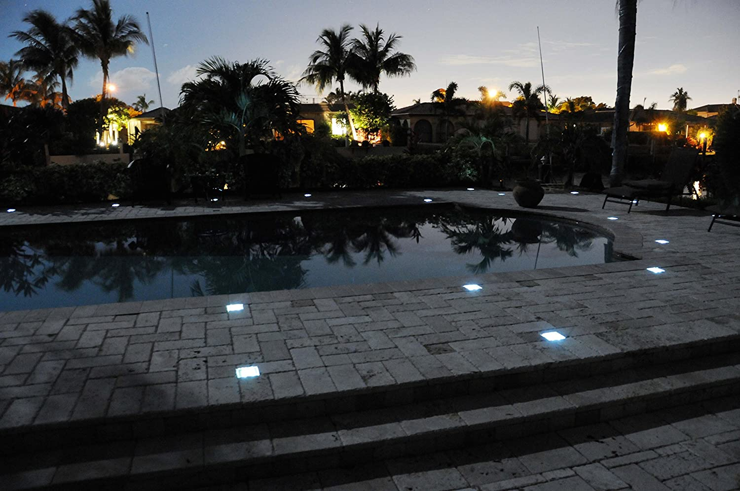Amazon paver light depot 4x8 solar led paver lights solar amazon paver light depot 4x8 solar led paver lights solar powered led walkway light 6 ultra bright elegant led lights automatic light sensor mozeypictures Image collections