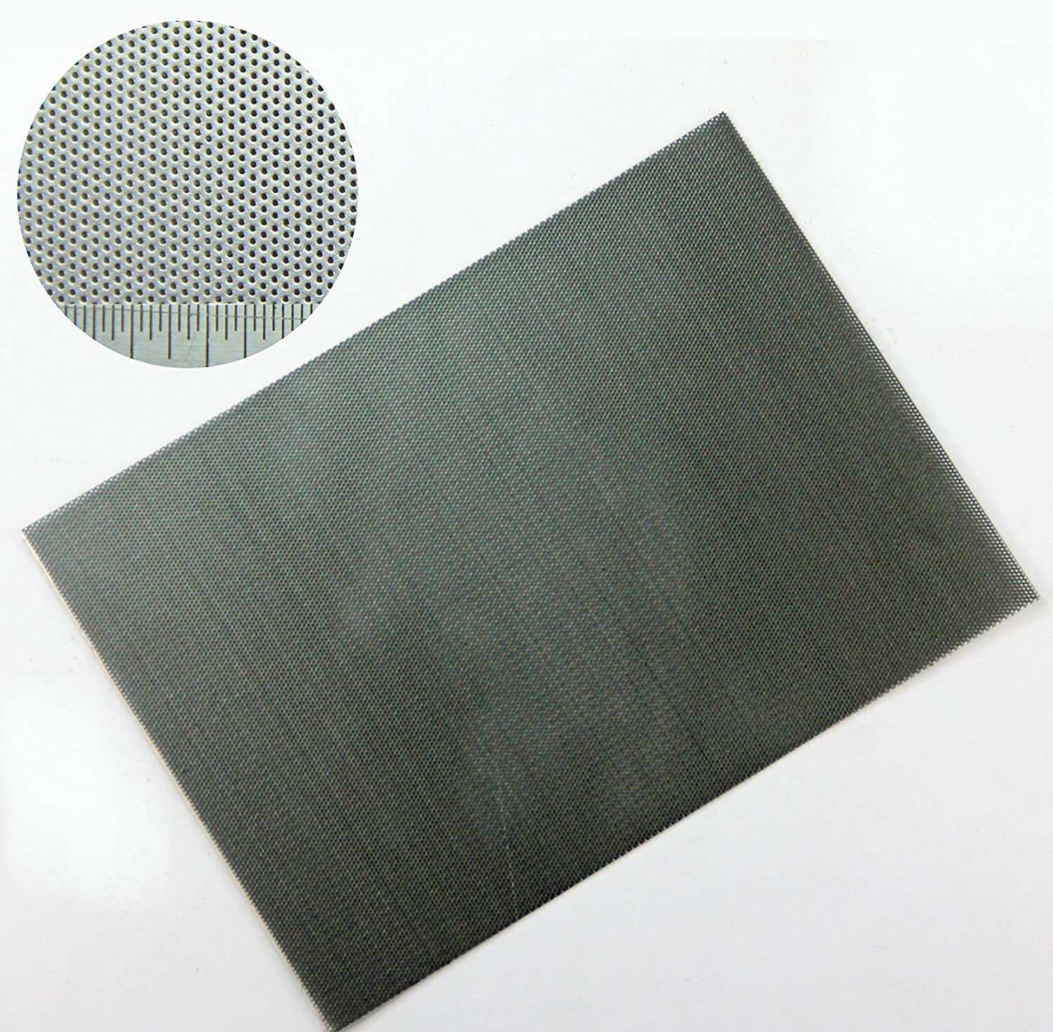0.5mm Hole Mild Steel Perforated Mesh Sheet - 1.09mm Pitch- 0.5mm Thickness - A5 Sample Sheet 150 x 210mm The Mesh Company