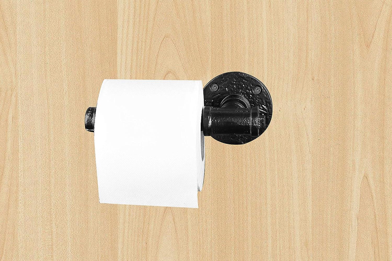 Amazon.com: Industrial Style Toilet Paper Holder Black Powder Coat ...