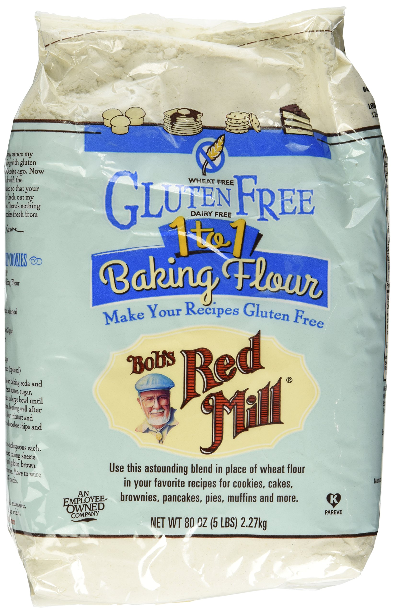 Bob's Red Mill Gluten Free 1-to-1 Baking Flour, 5 Pound by Bob's Red Mill (Image #2)
