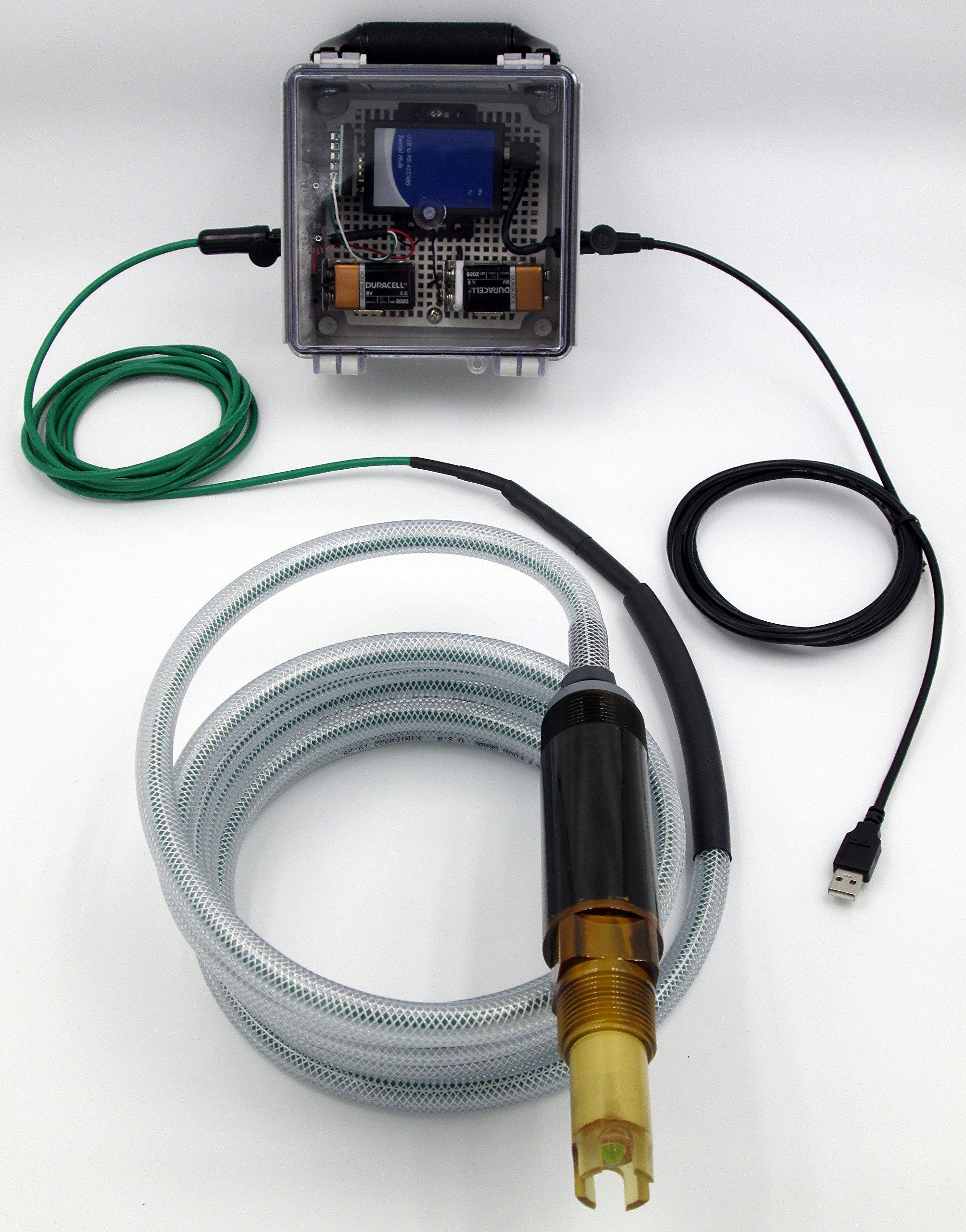 Industrial pH Measurement System using 3TX-HiQ Windows Software & HiQ to Windows NEMA 4X Bridge Box; Extremely Rugged Smart Digital ZEUS pH Sensor for Inline, Immersion & Submersible Use