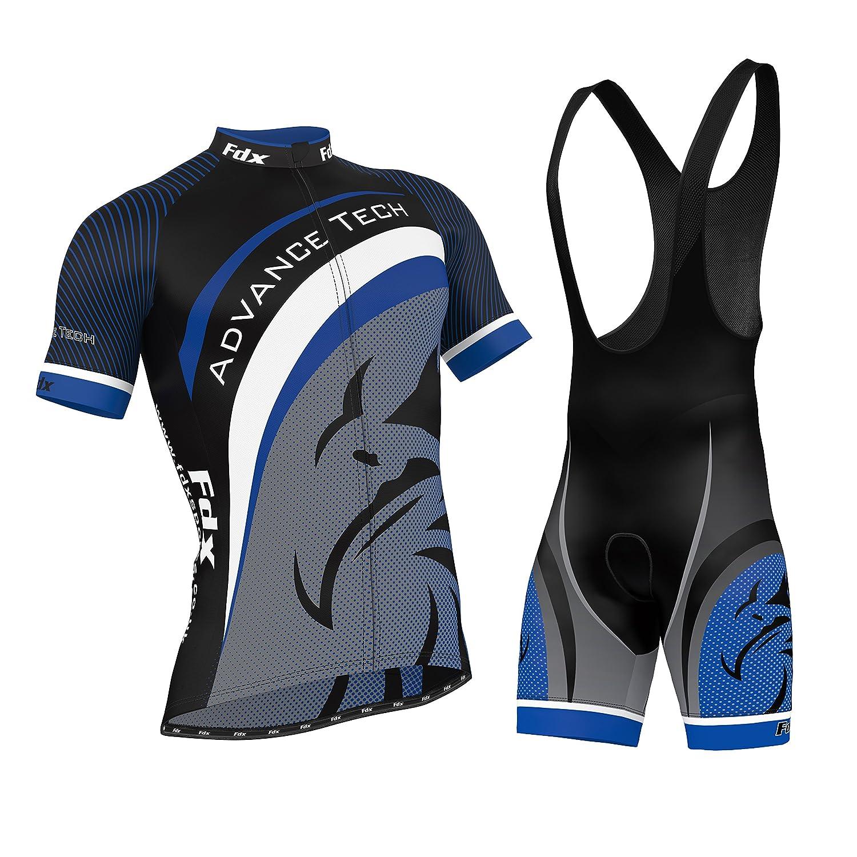 FDX da ciclismo da uomo in Jersey Team-Pantaloncini in Jersey da ciclismo, Set Kit