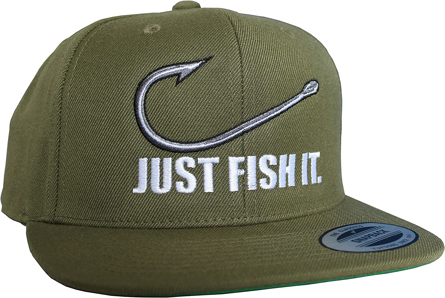 Gorra de béisbol: Just fish it - Pescado/Cap/Classic Flexfit ...