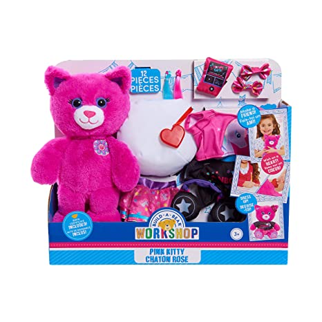 20d24e78f748b Amazon.com: Build A Bear Workshop Pink Kitty Chaton Rose Plush 12 Pc ...