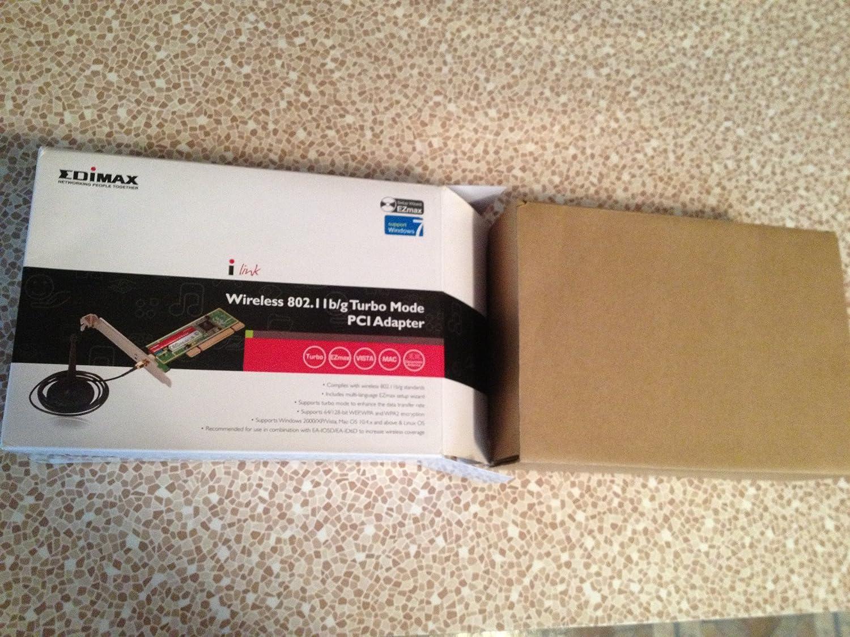 Amazon.com: Edimax EW-7128G Wireless 802.11b/g Turbo Mode PCI Adapter: Computers & Accessories