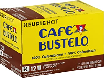 Cafe Bustelo 100% Colombian K-Cup Pods for Keurig K-Cup Brewers,