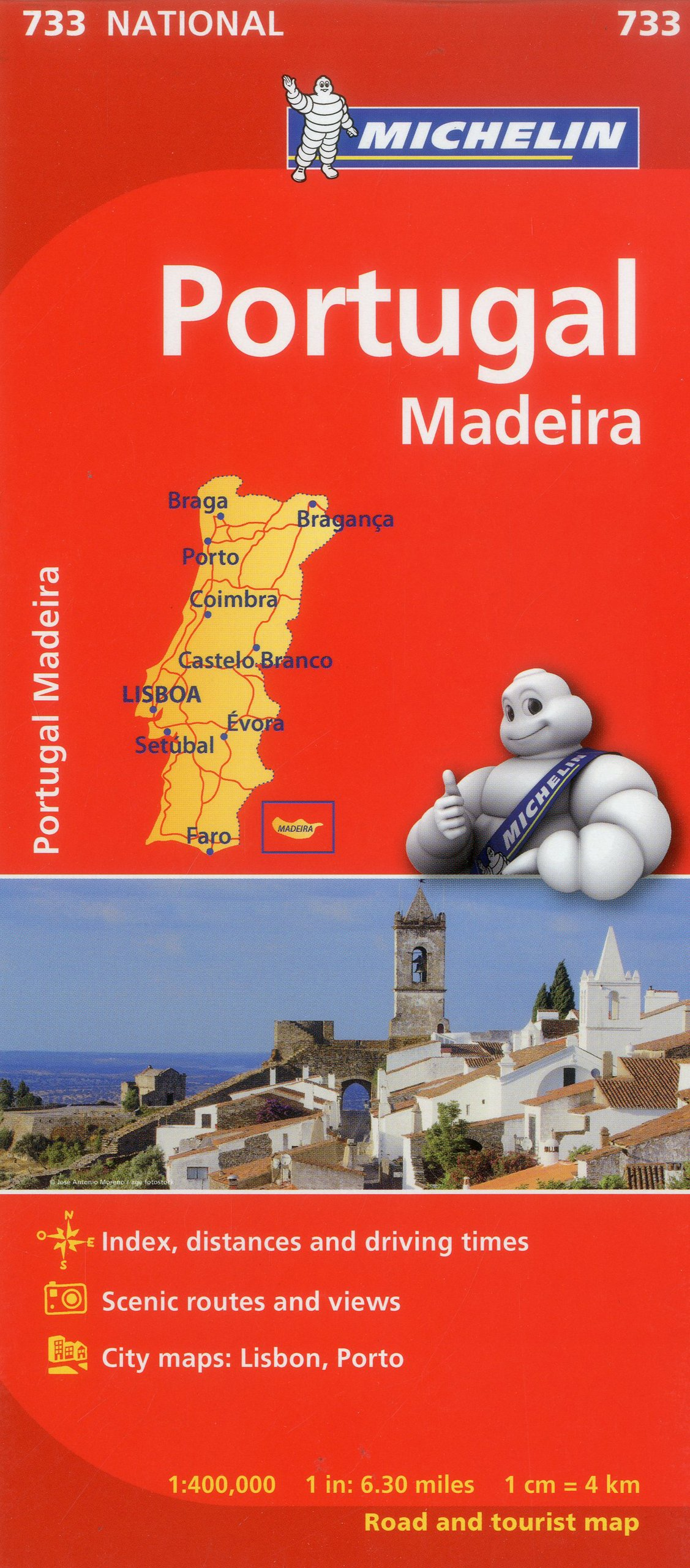 Michelin Portugal Map Michelin Books Amazonca - Portugal map michelin