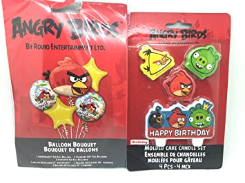 Amazon.com: Angry Birds ramo de globos de cumpleaños fiesta ...