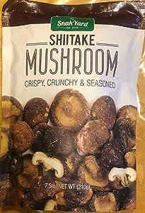 The Snak Yard Shiitake Mushroom 7.5 Oz Crispy Crunchy & Seasoned