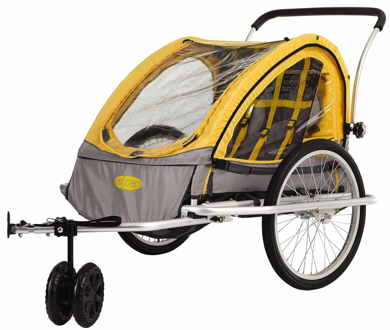 Amazon.com : InStep Rocket Bicycle Trailer (Yellow/Gray) : Child ...