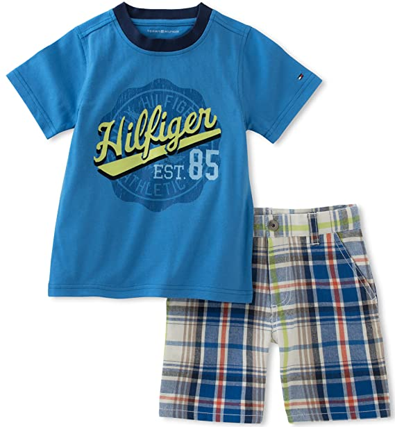 b63f0d5fd Image Unavailable. Image not available for. Color: Tommy Hilfiger Baby Boys'  2 Pieces Short Set, Blue, ...