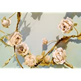 Sass & Belle Rose Garland, Cream, Length 160 cm