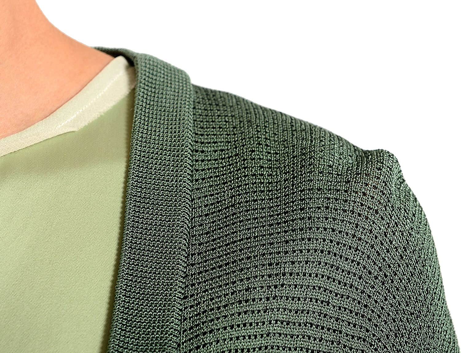 Maison Margiela 1 Green Knitted Button Down Womens Cardigan Sweater US M IT 42