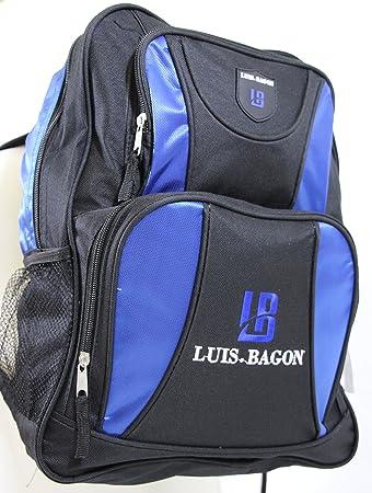 f4c3e761bc405 Mulitfunktions- Rucksack mit vielen Fächern in schwarz blau  quot Luis  Bagon (14092101