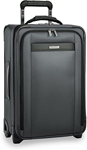 Briggs Riley Transcend-Softside Expandable Tall Carry-On Upright Luggage, Slate