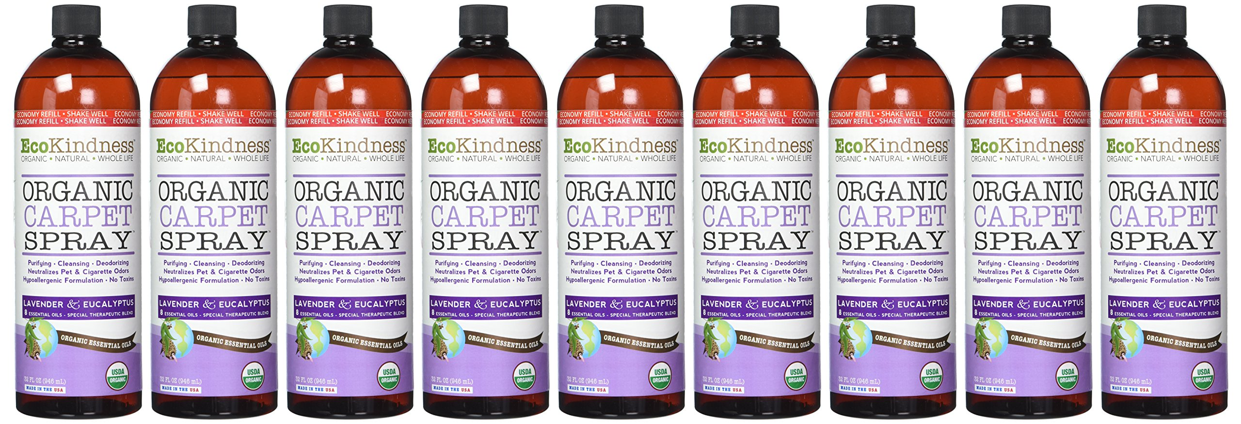 EcoKindness Organic Economy Refill Evening Song of Violets Carpet Spray, 32 Fl Oz (Pack of 9)