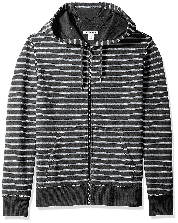Essentials Mens Patterned Full-Zip Hooded Fleece Sweatshirt