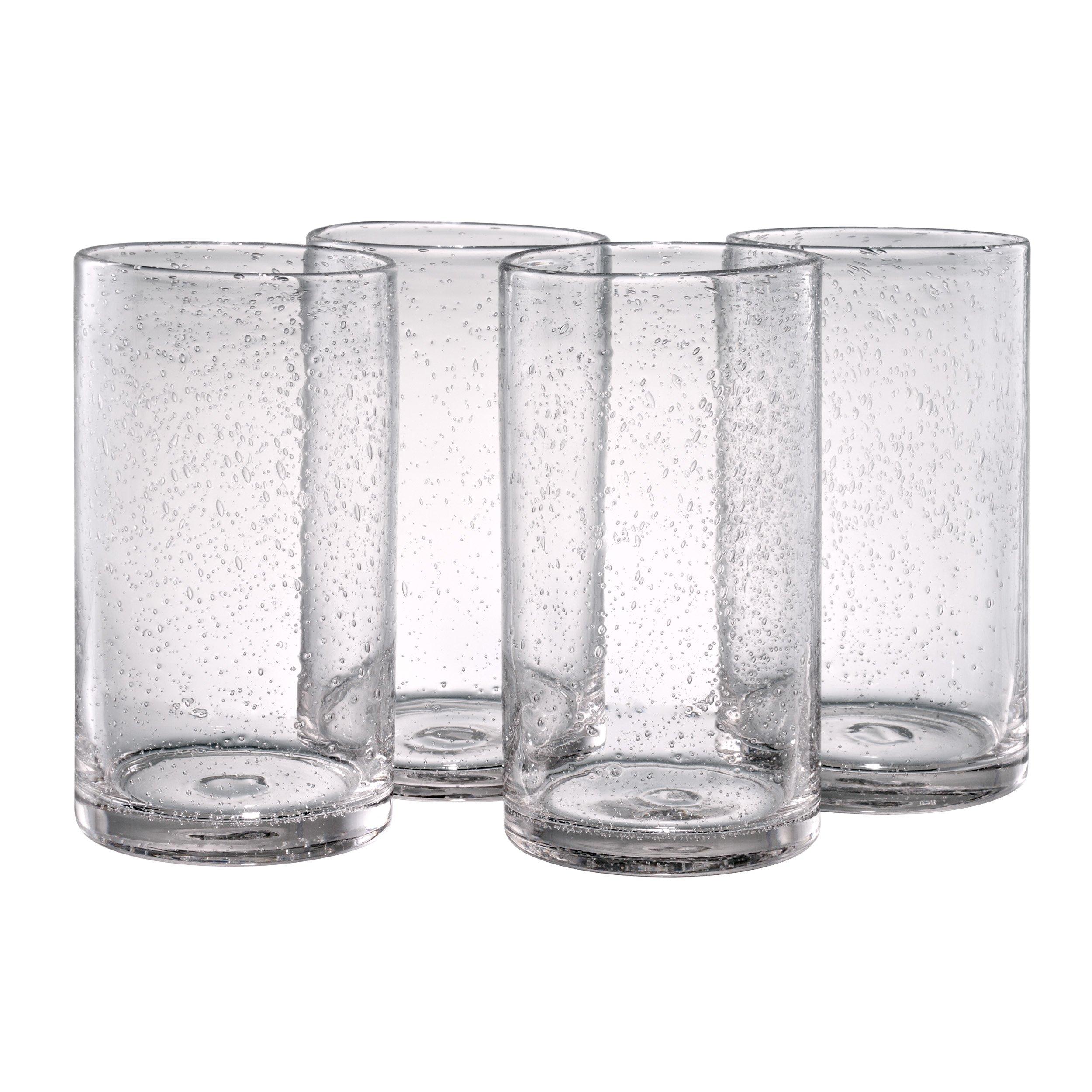 Artland Iris Highball Glasses, Clear, Set of 4