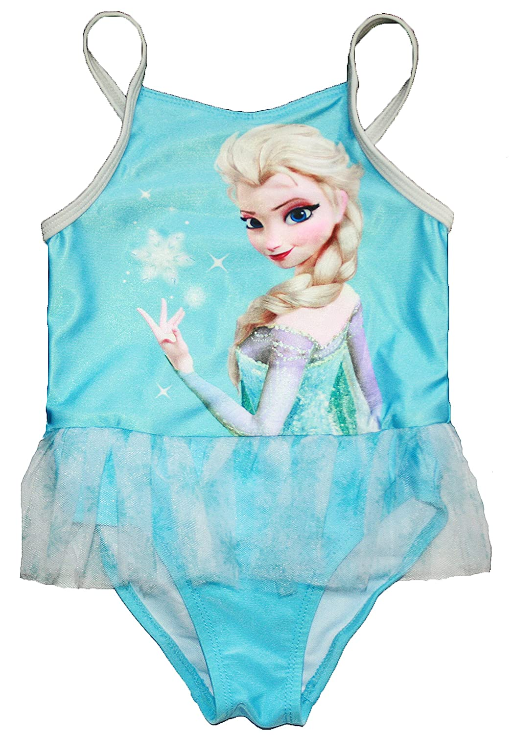 Amazon.com: Disney Frozen Little Girls Elsa una pieza traje ...