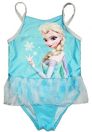 Amazon.com: Disney Frozen Little Girls Elsa una pieza traje ...