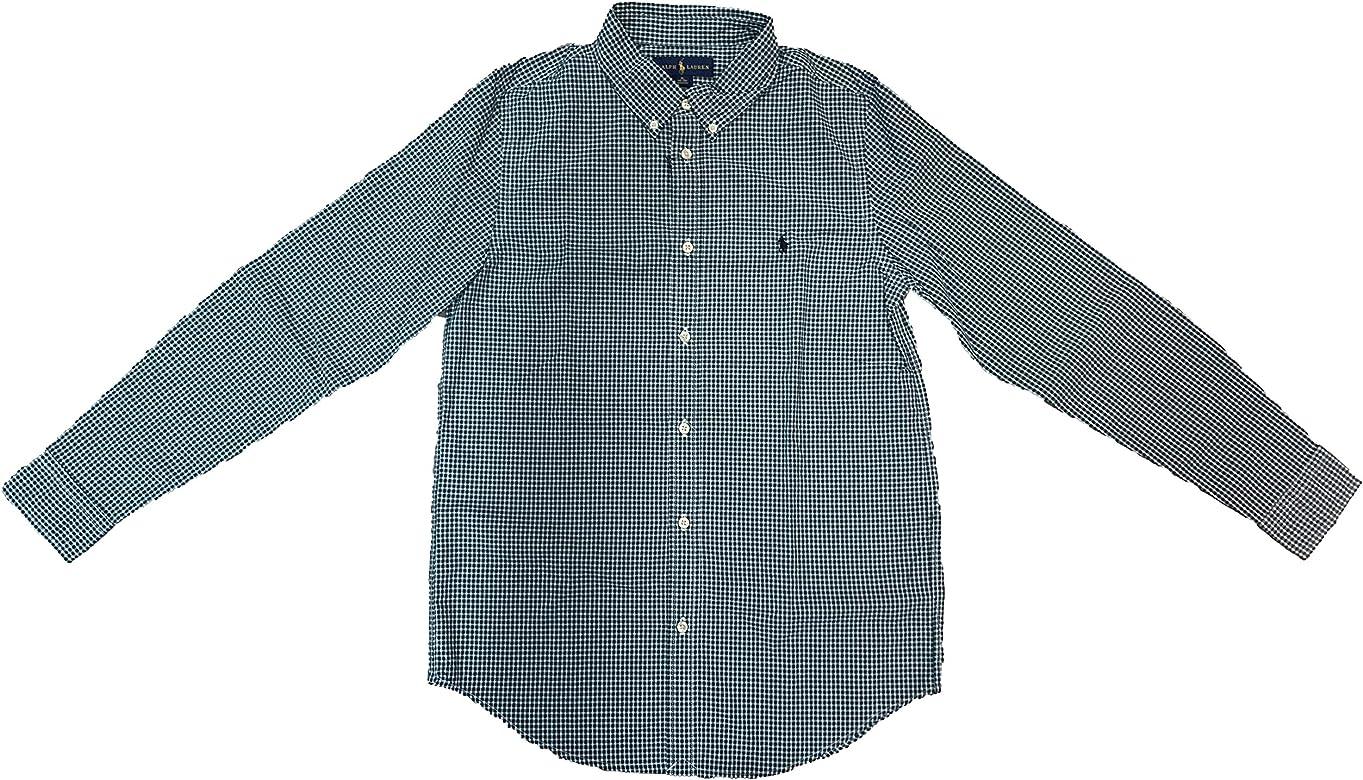 Ralph Lauren - Evergreen/White - Camisa Cuadros NIÑO (3): Amazon.es: Ropa y accesorios