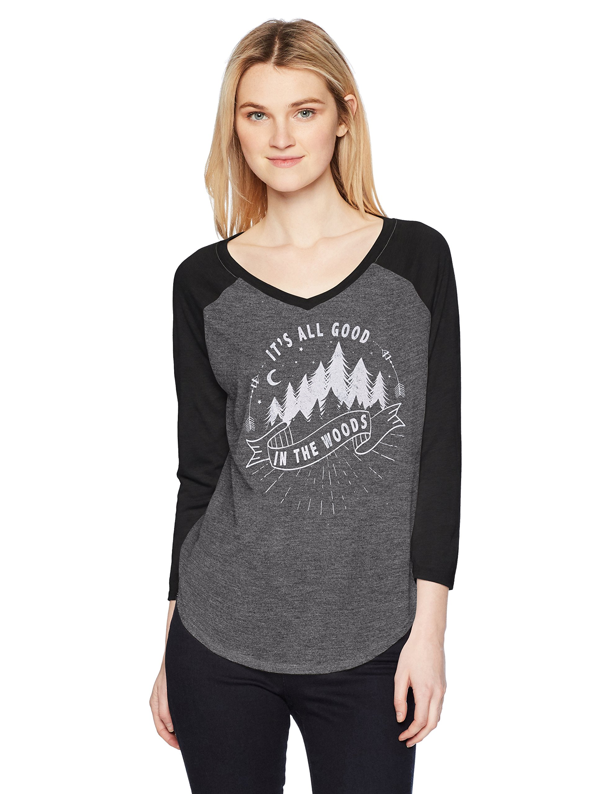 Fifth Sun Women's Desert Dream Graphic Fashion Ranglan Top, Multi/Color//All Good in The Woods, XX-Large
