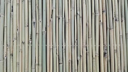 Estera de bambú Matte protección visual bambú Valla de jardín (150 ...