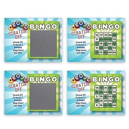 My Scratch Offs Bingo Scratch Off Game Cards - 25 Cards (24 Non Bingo, 1  Bingo)
