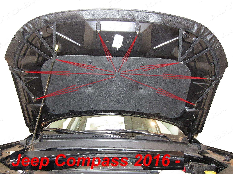 AB3-00399 AUTO-BRA Bonnet BRA f/ür COMPASS seit 2016 Haubenbra Steinschlagschutz Tuning Bonnet Bra