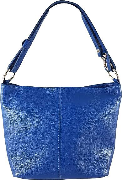 Echtleder Damen Tasche Handtasche Schultertasche Beuteltasche blau NEU!!!
