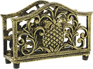 Bronze-Tone Cast Iron Pineapple Napkin Holder