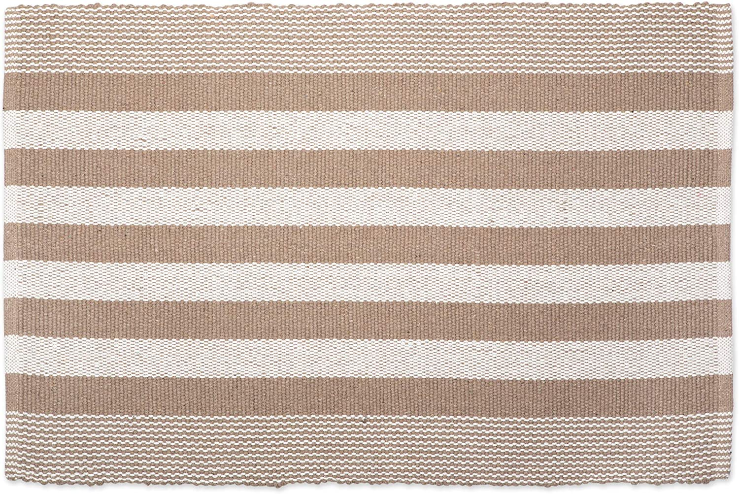 DII Contemporary Reversible Machine Washable Recycled Yarn Area Rug for Bedroom, Living Room, and Kitchen, 2'x3', Cabana Stripe Stone