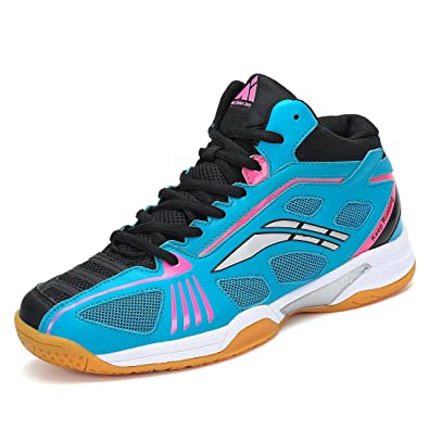 625b0b2a22b Fashiontown Badminton Shoes for Men Non Slip Indoor Court Volleyball Tennis  Sneakers Safety Training Shoe