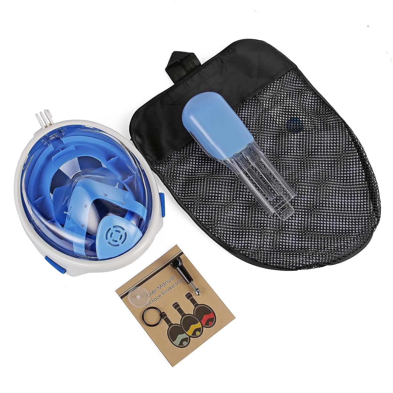 Leaning Tech/® Set de Snorkel m/áscara Snorkel para ni/ños Gafas de Buceo m/áscara de Buceo con esn/órquel M/áscara Completa con Montaje Adaptador para GoPro