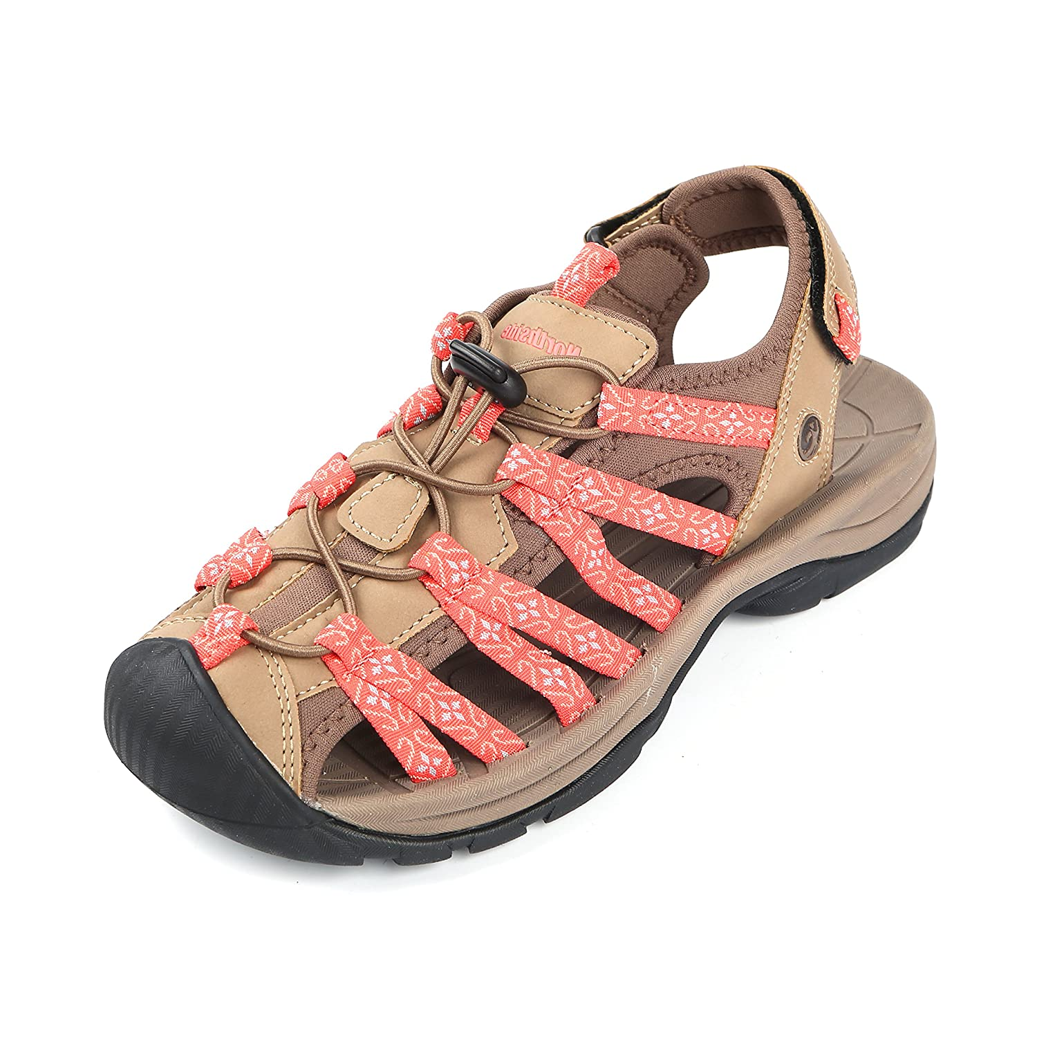 Northside Womens Savannah Sport Closed Toe Sandal B079TH8NZJ 6 B(M) US|Tan/Coral