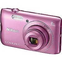 """Nikon Coolpix A300 - Cámara Digital compacta de 20.1 MP (Pantalla LCD de 2.7"""", Sensor CCD, Snapbridge, VR, Objetivo Nikkor, USB, WiFi) Rosa"""