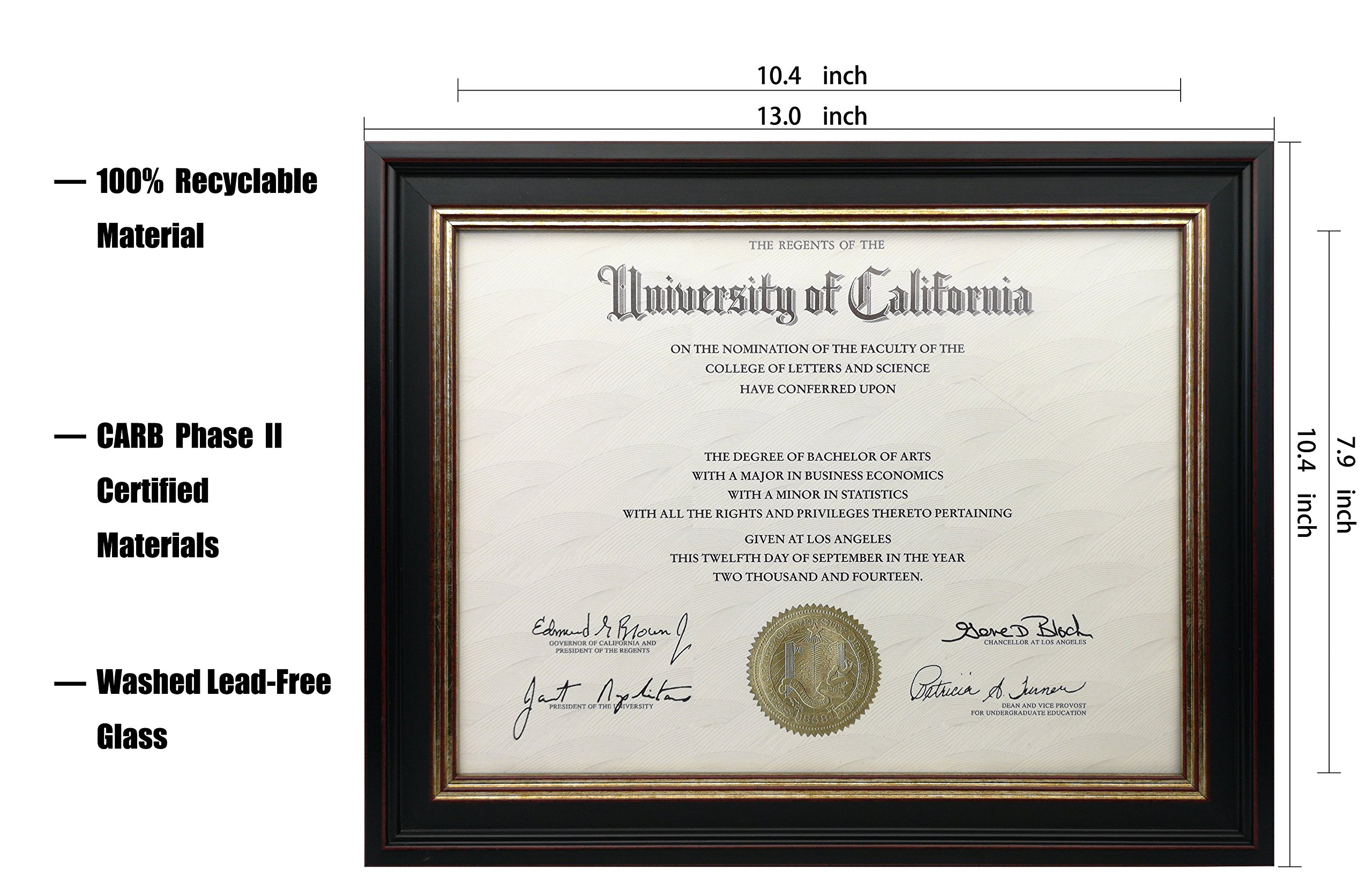 Onuri Inc - Luxurious Document Frame (2-Pack) - Classic 8.5x11 Picture Frame for Diploma Documents and Certificates by Onuri Inc. (Image #6)