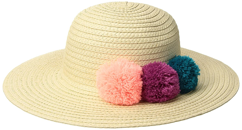 6bc69fa8 Amazon.com: Gymboree Girls' Toddler Pom Straw Hat, Multi, 5T: Clothing