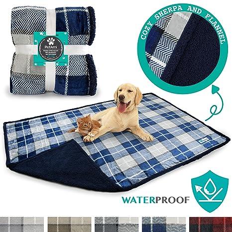 a7f56f98fd9d1 PetAmi Waterproof Dog Blanket for Bed, Couch, Sofa | Waterproof Dog Bed  Cover for Large Dogs, Puppies | Sherpa Fleece Pet Blanket Furniture  Protector ...