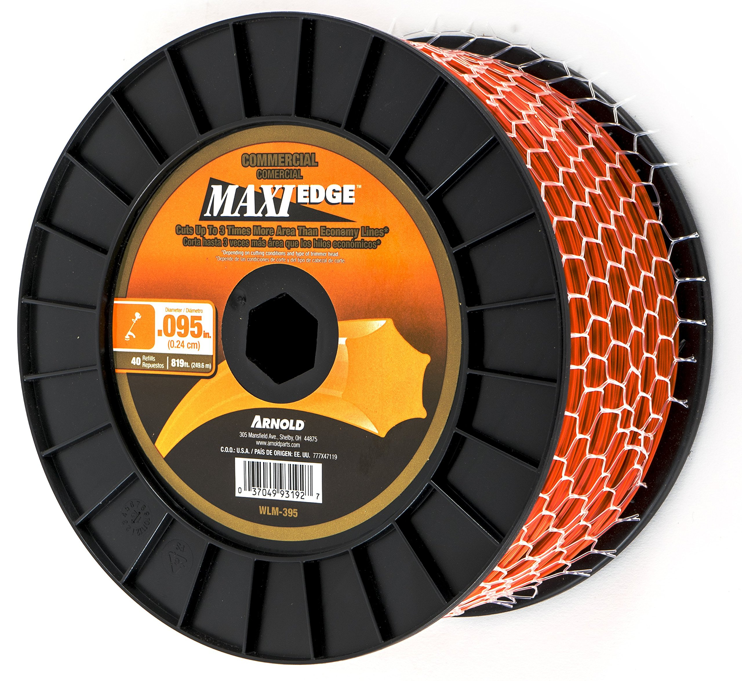 """Arnold Maxi-Edge .105/""""x 665-Foot Commercial Grade String Trimmer Line"""